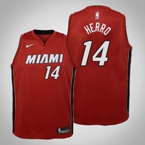 Youth Miami Heat Tyler Herro Jersey Red